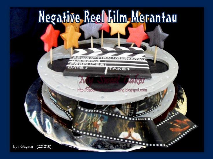Negative reel Film cake
