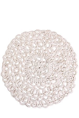 """Hand woven from 100% natural cotton, this rug can be used as a decorative addition to any room in your home. The pretty and intricate crochet detail will lend itself well to a stylish interior.<div class=""""pdpDescContent""""><BR /><b class=""""pdpDesc"""">Dimensions:</b><BR />L100 cm<BR /><BR /><b class=""""pdpDesc"""">Fabric Content:</b><BR />100% Cotton<BR /><BR /><b class=""""pdpDesc"""">Wash Care:</b><BR>Spot Clean</div>"""