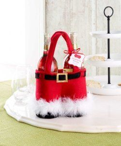 Mud Pie Santa Double Bottle