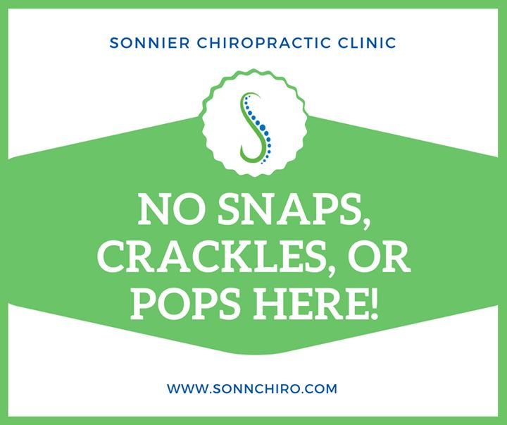 """The chiropractic care you receive at Sonnier Chiropractic Clinic is comfortable and pain-free. We don't do """"snap crackle pop"""" here!  #SonnierChiropracticClinic #SnapCracklePop #PainFree #Chiropractor #BatonRouge #Zachary"""