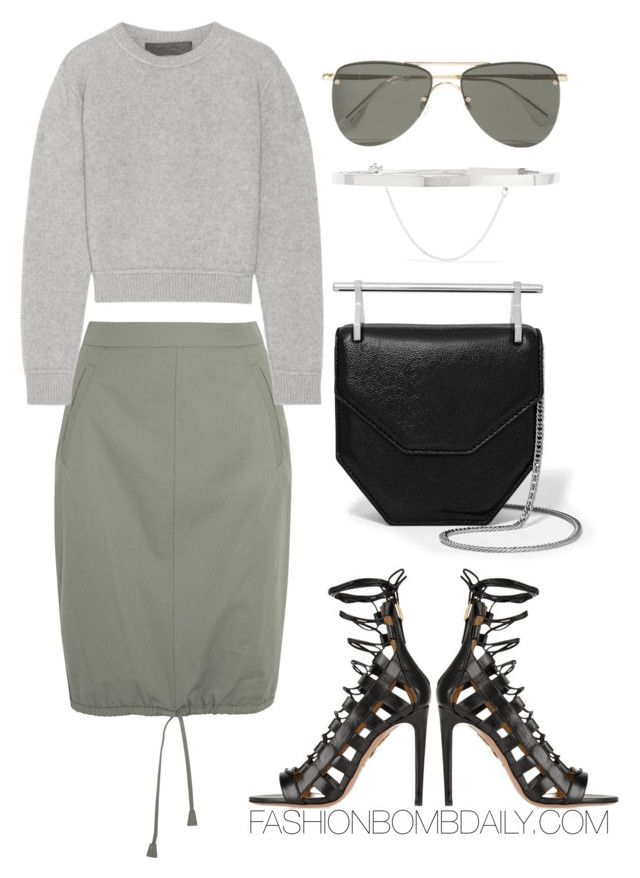 """Untitled #1958"" by dnicoleg ❤ liked on Polyvore featuring Barbara Casasola, The Elder Statesman, Le Specs, M2Malletier, Eddie Borgo and Aquazzura"