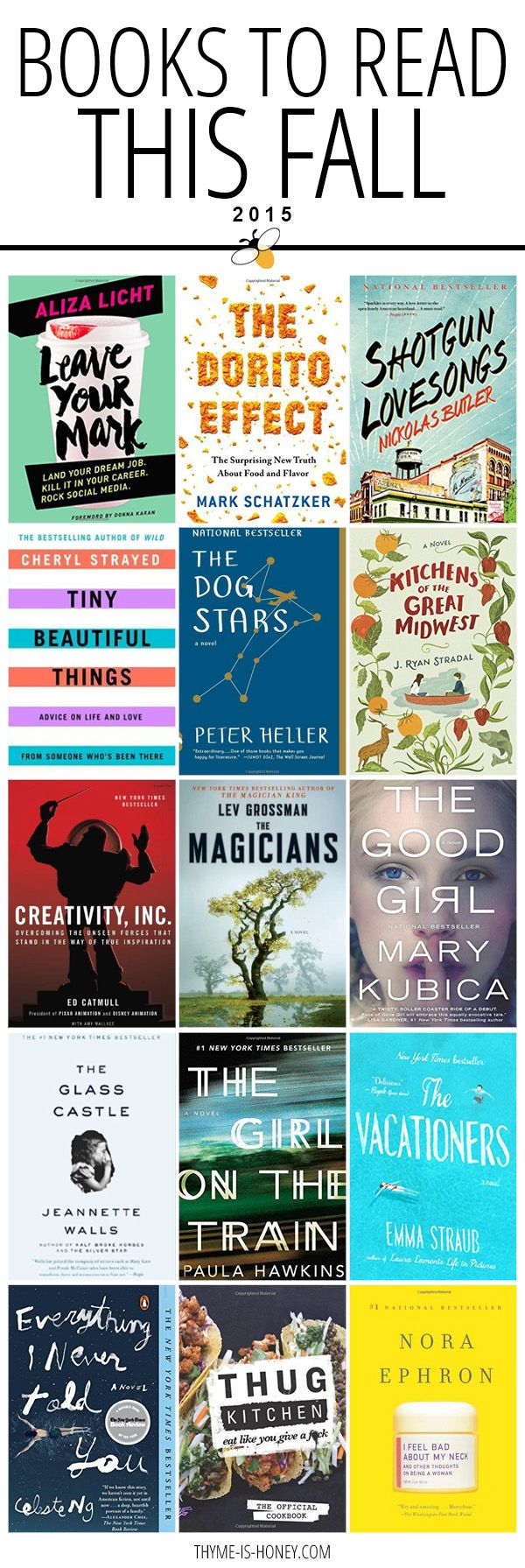 Time to cozy up with a book! 15 great books to read Fall 2015.