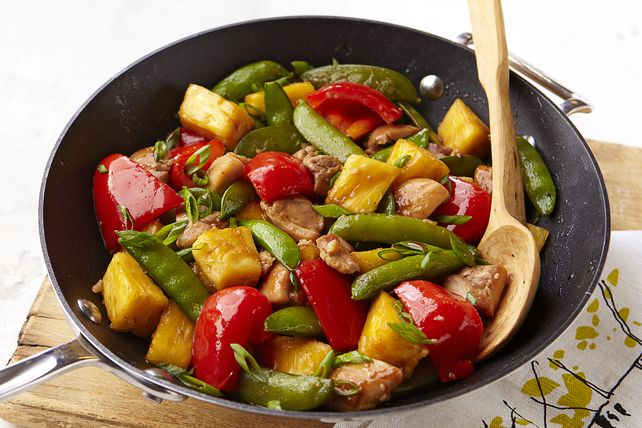 Sesame-Pineapple Chicken Stir-Fry