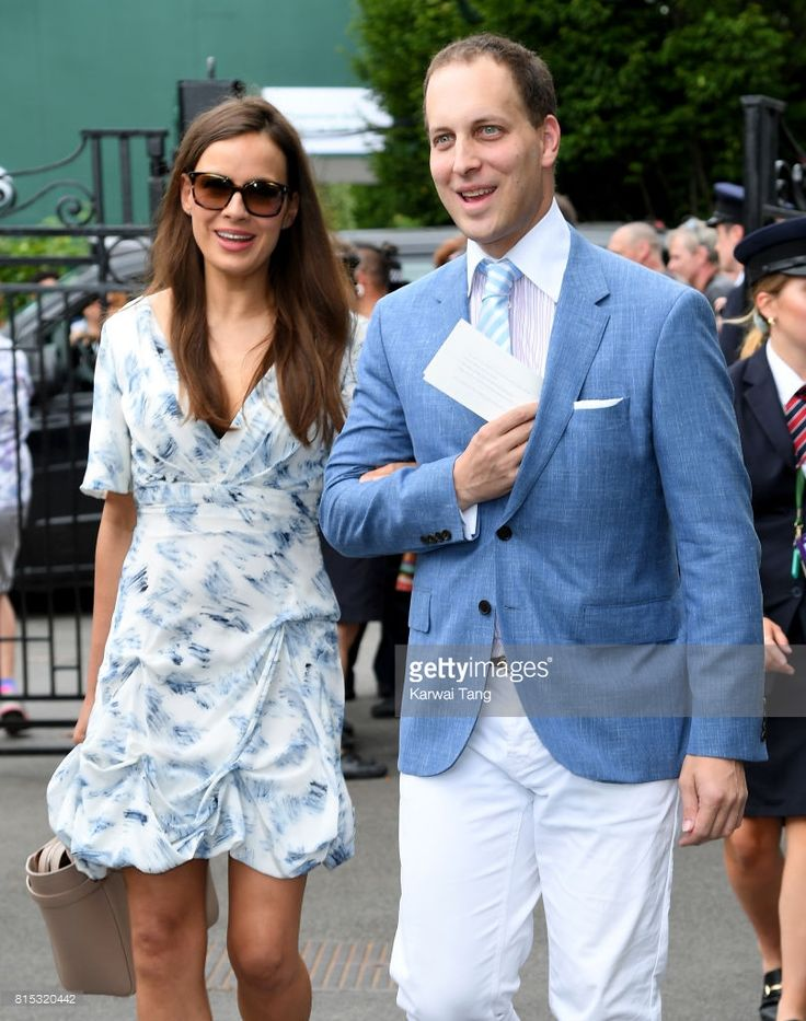Sophie Winkleman and Frederick Windsor attend day 13 of Wimbledon 2017 on July 16, 2017 in London, England.  (Photo by Karwai Tang/WireImage)