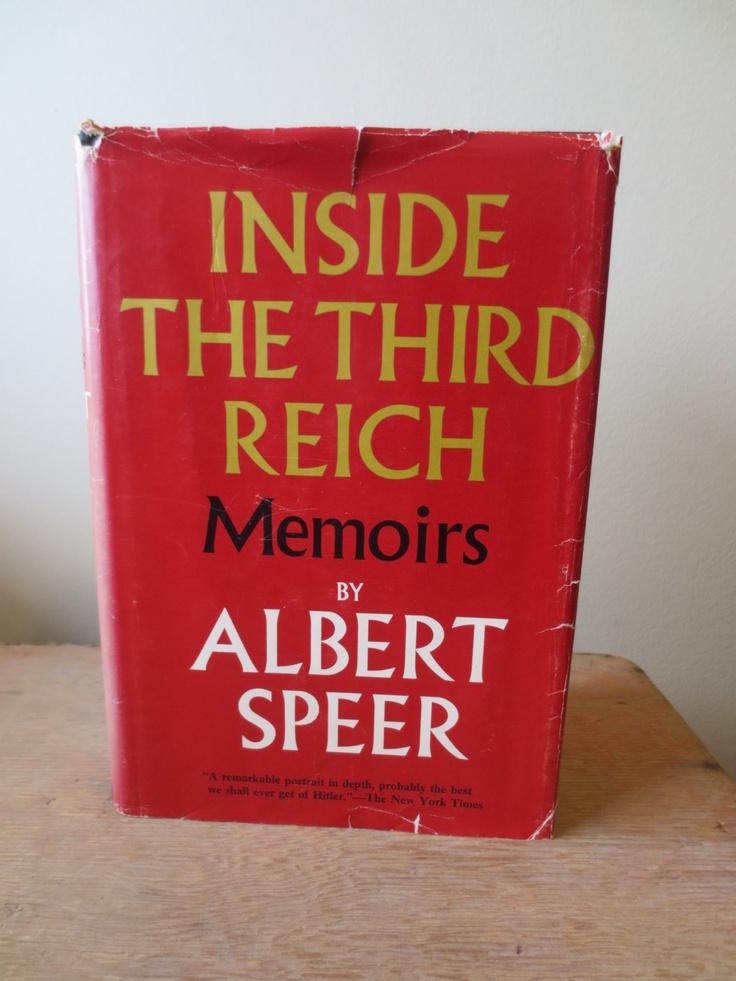 Inside the Third Reich (1970) by Albert Speer - Stated First Edition - Vintage Biography/History Book
