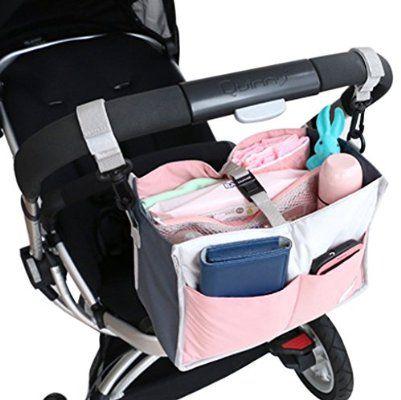 FakeFace® Universell Kinderwagen Buggy Organizer Tasche Aufbewahrungstasche Getränkehalter Flaschenhalter
