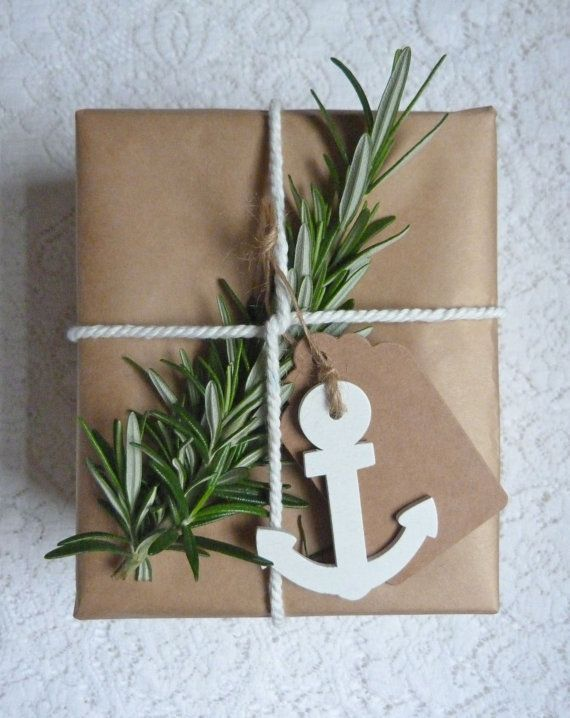 simple gift wrapping diy nautical christmas beach christmas or any time