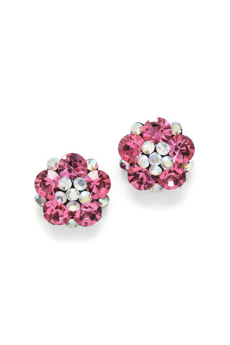 Crystal Savannah Earrings in Pomegranate on Emma Stine Limited