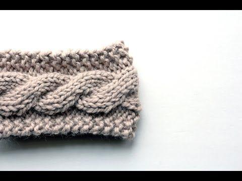 FREE Friendship Cable Headband Knitting Pattern Video - YouTube