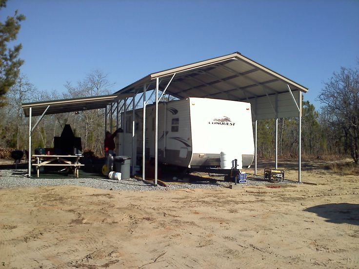 Best 25 rv carports ideas on pinterest rv shelter for Motorhome garage kits