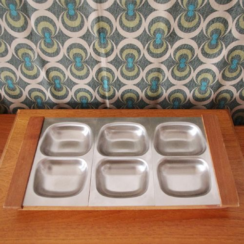 Old Hall stainless steel Hors d'oeuvres dishes, designed by Robert Welch and made in Bloxwich.