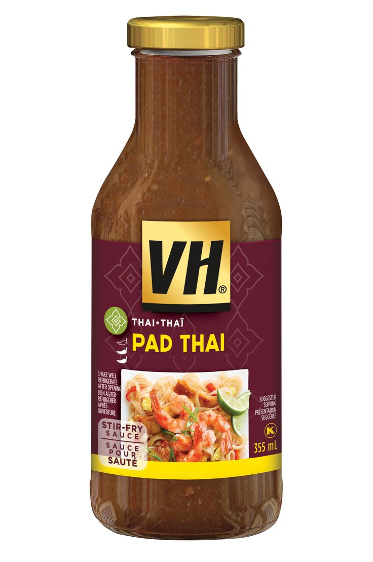 Inspired by central Thailand's most famous dish, VH Pad Thai Stir Fry sauce is a very savoury and spicy stir-fry sauce with roasted garlic and lemon that will make boring noodles brilliantly flavourful.