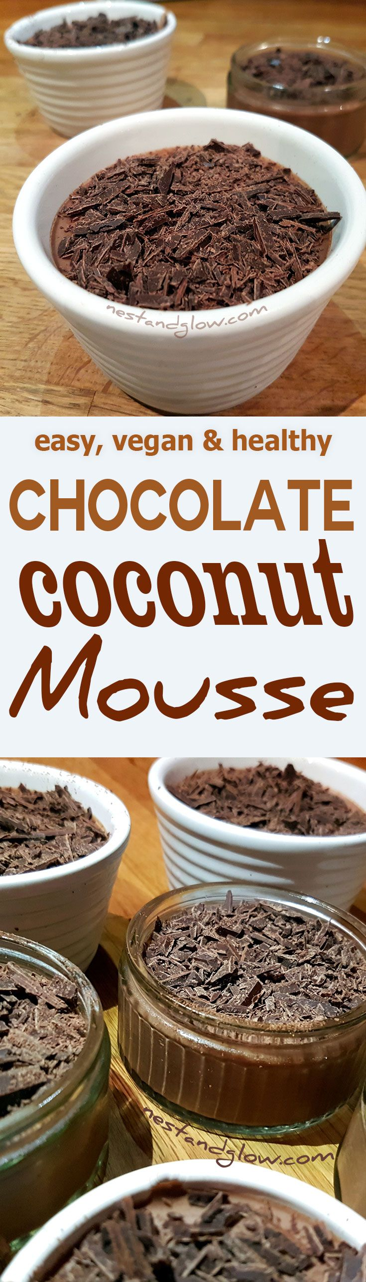 A rich chocolate mousse made with coconut milk that takes minutes to make. It's thick, rich, creamy, dairy-free and refined sugar free. via @nestandglow
