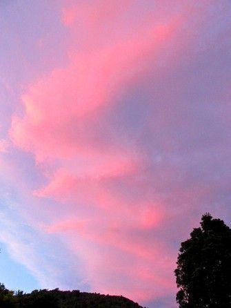 ジグザグ  夕焼け雲