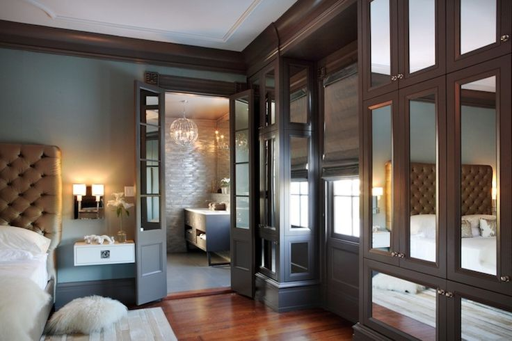 Bedrooms -teal Wall Color, Wood Crown Molding, White