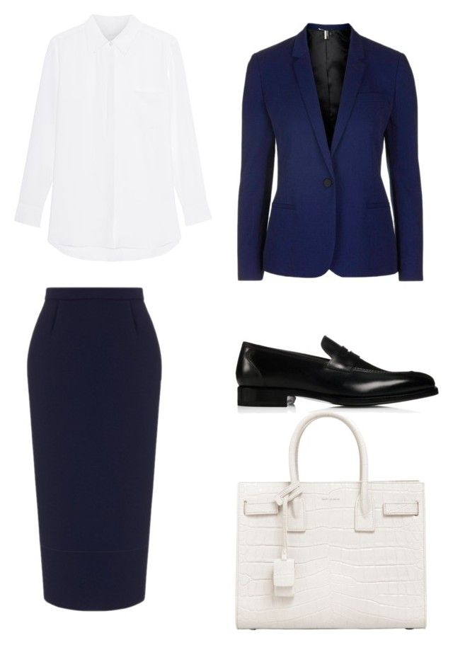 """Geen titel #2"" by shanisiavniel on Polyvore featuring mode, Roland Mouret, Wessex, Yves Saint Laurent en Topshop"