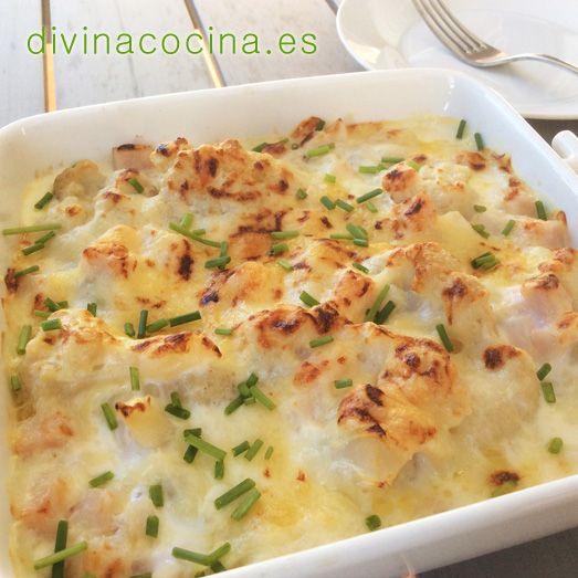 Esta receta de coliflor gratinada es sencilla y sabrosa, y puede servirnos ptambién para preparar brócoli y otras verduras (calabacines, puerros...).