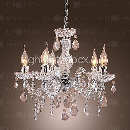 Max 40W Tradicional/Clásico Cromo Acrílico Lámparas Araña Sala de estar / Dormitorio / Comedor - USD $68.99