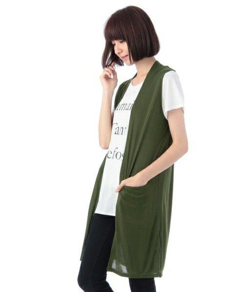 【セール】ロングジレ×ロゴTシャツ(カーディガン)|grove(グローブ)のファッション通販 - ZOZOTOWN