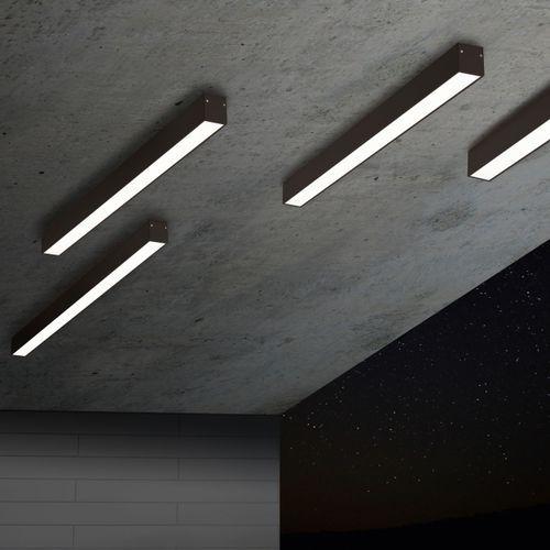 Contemporary ceiling light / aluminium / linear / LED B-LINER DELTA LIGHT