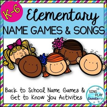 Back to School will be a breeze as you play these fun Names games, sing the songs all while building classroom community and establishing rules and procedures. Can be used as brain breaks, welcoming time and more. Part of a Bundle! K-6 RESOURCE INCLUDES: 15 Songs and Games in Poster