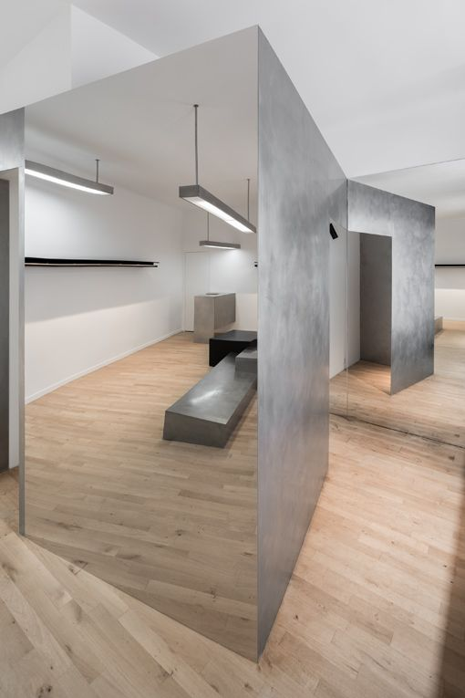 ♂ Commercial retail space minimalsit and masculine interior design