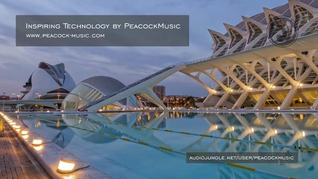 """""""Inspiring Technology"""" - is a calm and soft track with acoustic piano, electric guitar, strings, pads, synths, deep bass and drums.  This package includes four versions. Visit for more Royalty Free Music: www.peacock-music.com"""