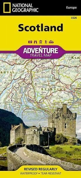 Waterproof Tear-Resistant Travel Map National Geographic's Scotland AdventureMap will meet the needs of Scotland's adventure travelers with its durability and detailed, accurate information. Whether y
