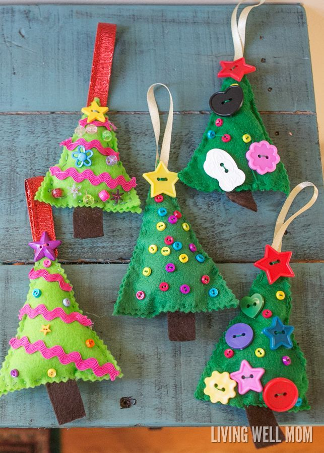 Felt Christmas Tree Ornaments Christmas Tree Ornament Crafts Felt Christmas Tree Decorations Sewn Christmas Ornaments