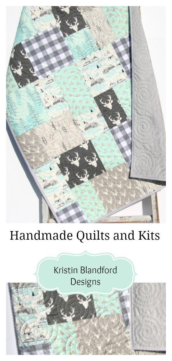 woodland crib quilt woodland nursery decor owl baby quilt modern owl decor gender neutral baby bedding handmade baby quilt