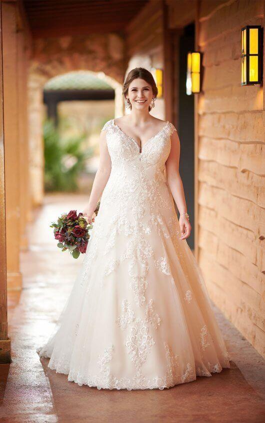 Classic A Line Wedding Dress Plus Size Wedding Dresses Pinterest