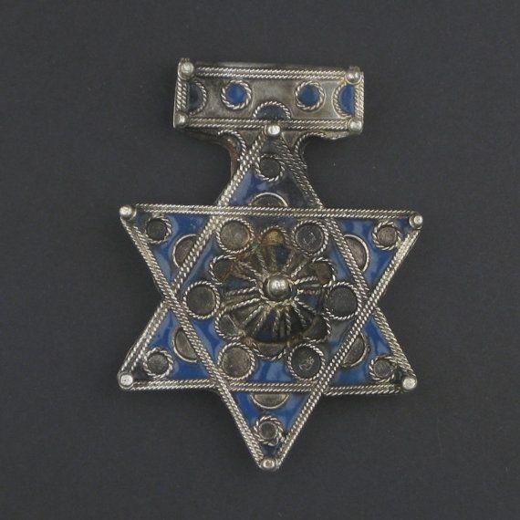 Rare Jewish Berber Pendant  Vintage Star of David Pendant