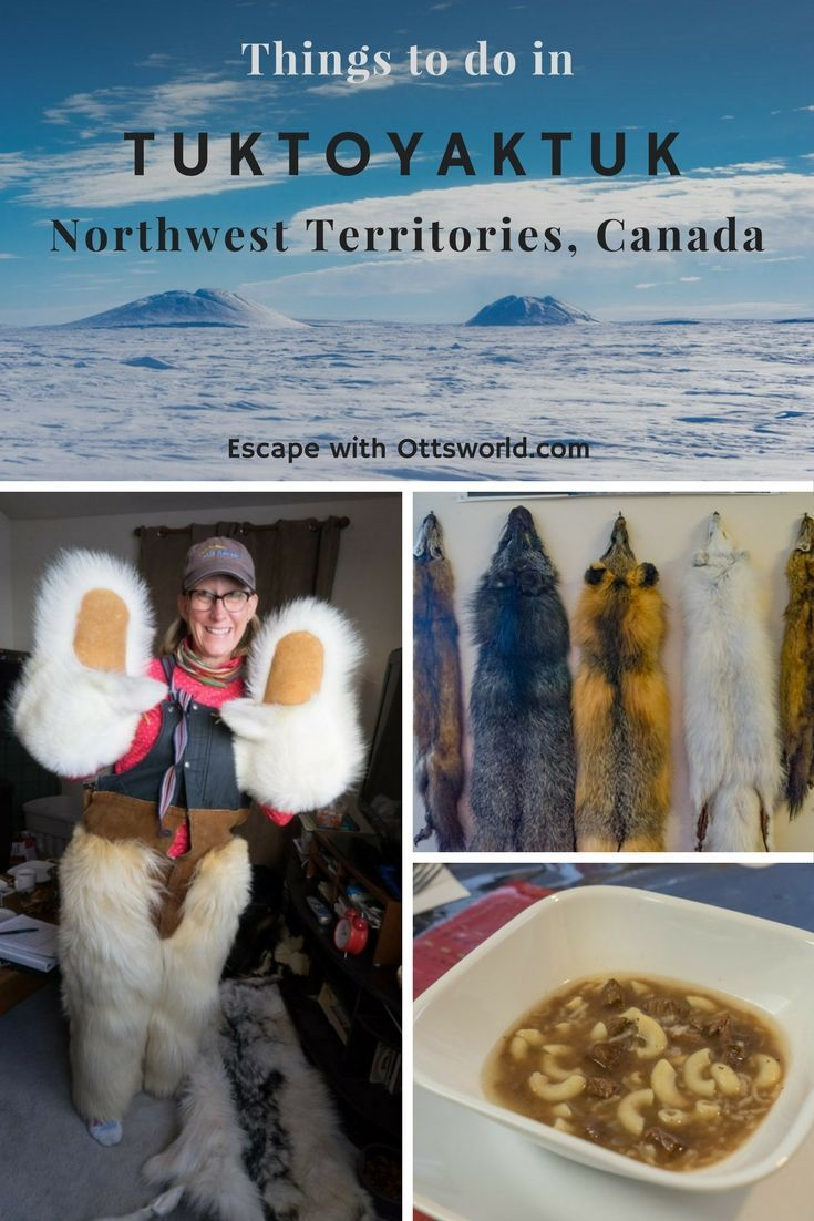 Teetering on the Arctic Ocean, population 860, Tuktoyaktuk in Canada's Northwest Territories is the coolest town around! Be sure to check out these things to do in Tuk! via @Ottsworld