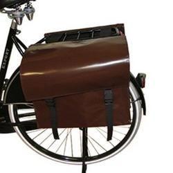 De Poort dubbele fietstas Luxe - Bruin € 54,95