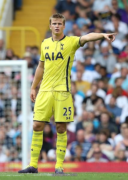 Erik Dier of Spurs during a pre season friendly match between Tottenham Hotspur and FC Schalke at White Hart Lane on August 9, 2014 in London, England.