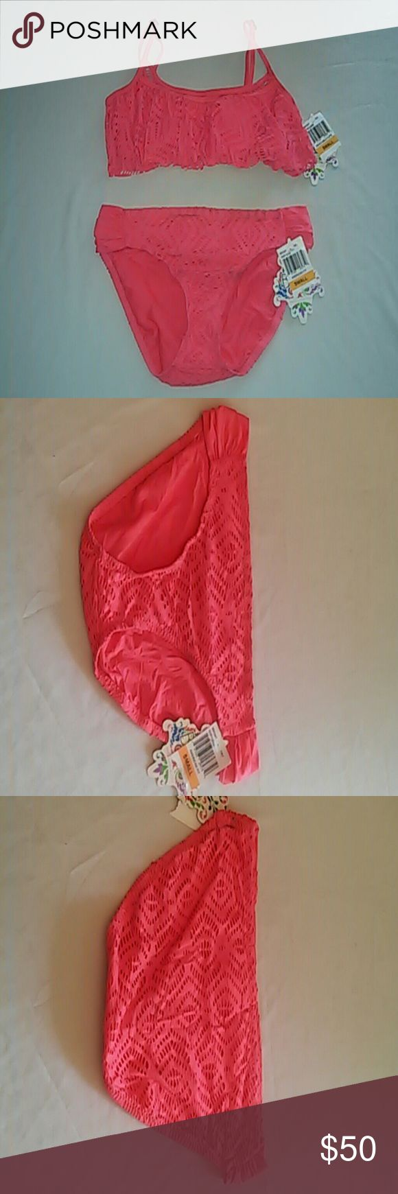 Pink Becca Two Piece Swimsuit Size Small Pink two piece swimsuit  Size small New with tags BECCA Swim
