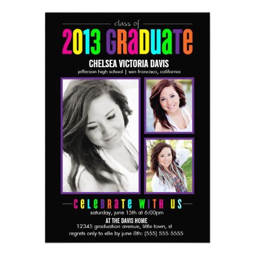 19 best College Graduation Party Invitations images on Pinterest