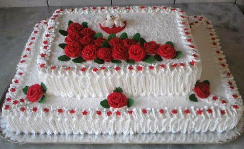 Bolos de Noiva de Coração Tradicional Quadrado Redondo Chocolate Dois andares   Myama.com