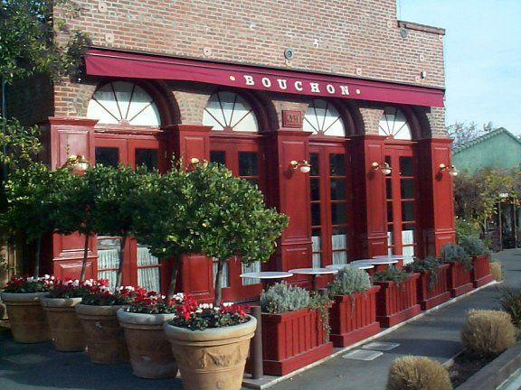 Bouchon Restaurant in Yountville. One of Thomas Keller's restaurants and a great place for a glass of Pinot at the bar with fresh oysters