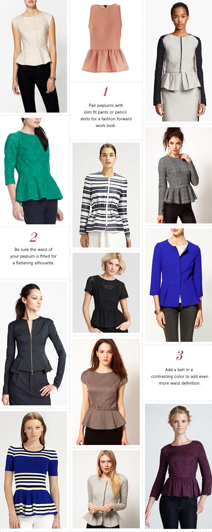 Professionelle: Peplum Tops + Jackets