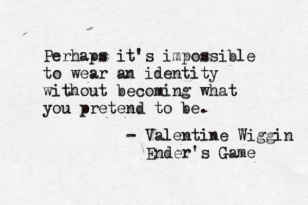 Valentine Wiggin, Ender's Game. This book, this book, this book!!!!!!