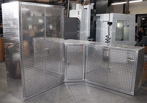 This Three Piece Diamond Plate Garage Storage Offers Over 12 Plus Feet Of  Garage Organization At Your Disposal. These Are Real Diamond Plate Aluminum  Units ...