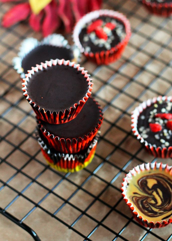 5 Ingredient Coconut Oil Chocolate Peanut Butter Cups {Ready in 30 minutes or less!}