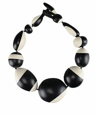 Monies Round Necklace with bicolor spheres. Lenght: 18 cm. Composition: 100% Polyester /566