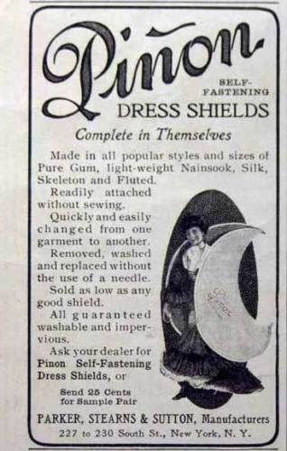 1901 Parker Stearns Sutton Pinon Dress Shields Ad   eBay