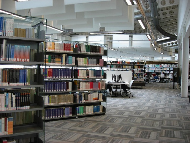 ceiling baffles2 by Opening the Book, via Flickr