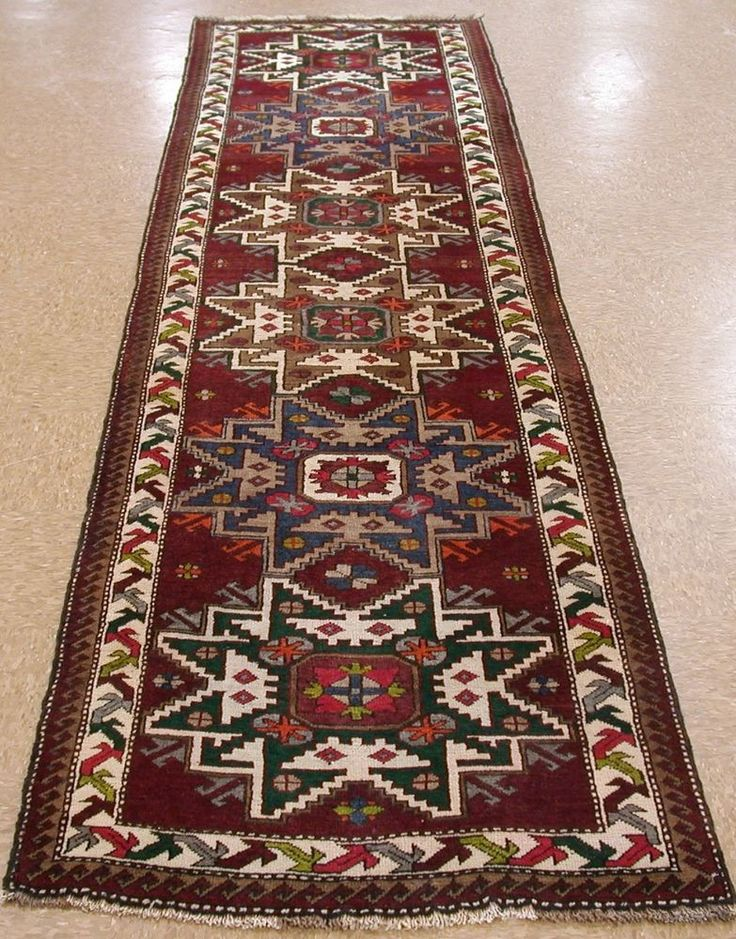 3 x 11 Caucasian Shirvan Style Tribal Hand Knotted Wool Red Oriental Rug Runner