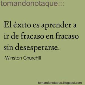 #frases celebres de éxito -Winston Chrchill #citas