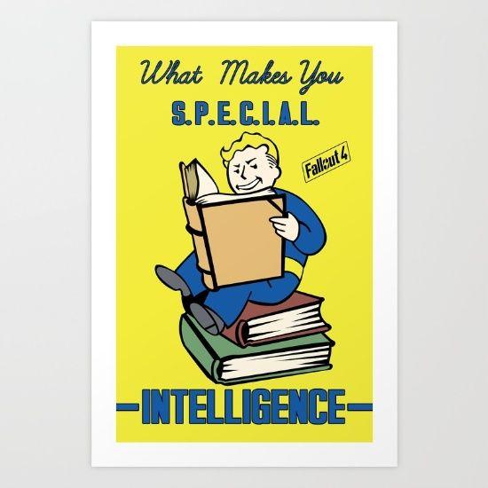 Intelligence+S.P.E.C.I.A.L.+Fallout+4+Art+Print+by+Sgrunfo+-+$14.56