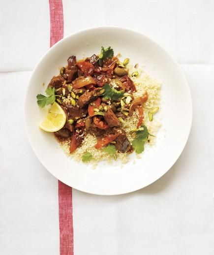 Slow-Cooker Lamb, Apricot, and Olive Tagine recipe